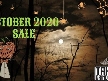 Halloween  and Black Friday Banners