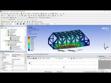 Design and complete analysis of a bridge in ANSYS Workbench