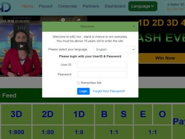 Online betting site based on 365 live draw. Many kinds of payments method and betting methods.