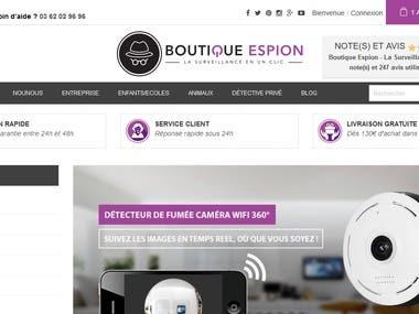 www.boutique-espion.fr  Modernize site of Prestashop
