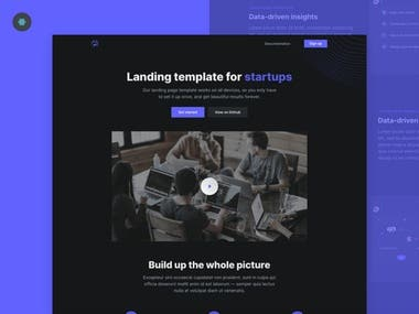 Here is one of my best project.  I made this complete website using Bootstrap. This website is completely mobile friendly & it will looks good in every size of device. Also this website has beautiful design & layouts.