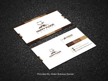 Simple business card design with color combination