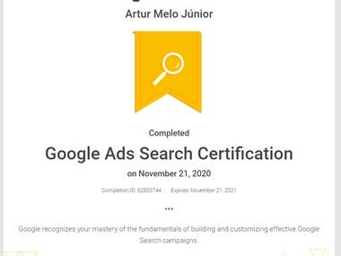 Google recognizes your mastery of the fundamentals of building and customizing effective Google Search campaigns.