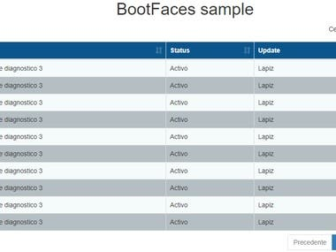 This is a sample of Bootfaces. This framework allows you to create components with many features with just a few lines of code