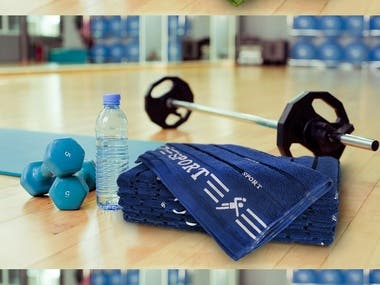 One of the examples of working with product photos. The main object is Towels. The background in this work was previously found on the Internet and then, by cropping the image, a photo of the main object was superimposed over it. The original photos of the main subject were taken against a neutral background with a regular smartphone camera by customer.  The colors of the main object were changed on Photoshop.  Also in this work there are additional photos, on a white background.