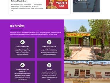 Bajrang PG College website Development