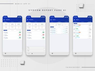 Mobile application UI/UX designs