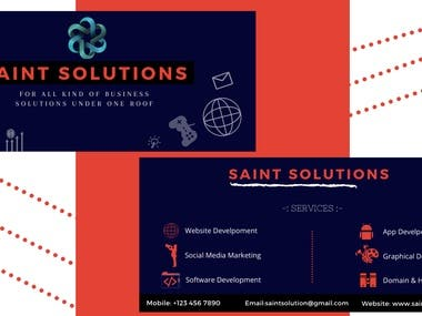 Business card for Software  and Real Estate Company