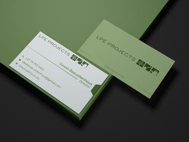 Business card design for the Director of LPE project
