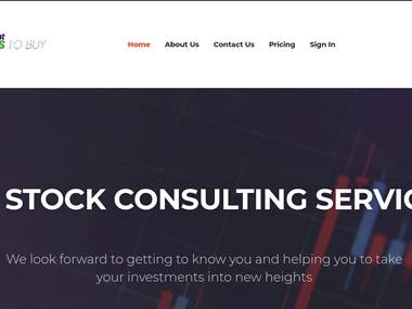 What stocks to buy is a stock consulting service provider. They help you to take your investments into new heights. It also provide stock tips and advices.  I have worked here as a SEO optimization expert. I have fixed all the SEO related issue and improved the SEO of the websites.