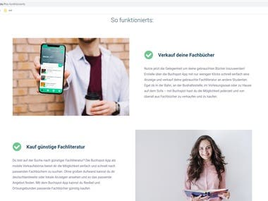 It is company website for Buchspot what buy & sell books. It has been built with Vue.JS