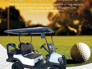#golf #cart #golfcart #ad #poster #gold cart #print #web