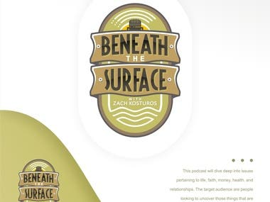 This is logo for BENEAT THE SURFACE