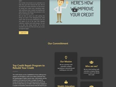 A Credit repair site with form integration.