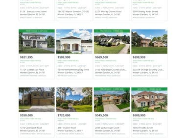 http://www.centralfloridaprimerealestate.com/ This is realtered WordPress website with  SDK .Premium WordPress theme has  been used. Website theme customized by me with installation of related plugins.