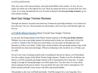 A well-researched amazon affiliated product review article about the best gas hedge hammers. The intro immediately captures the attention of the reader and the content makes them want to purchase the products.