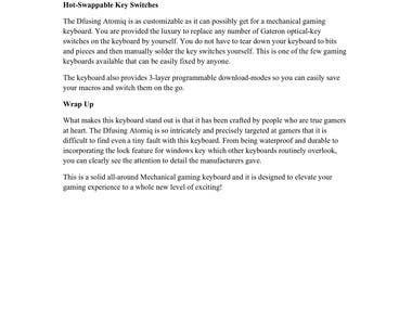 Product description for a gaming console that I made as appealing as possible