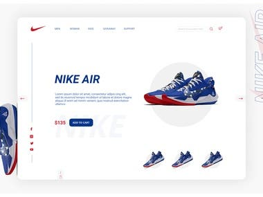Designed for NIKE shoes in FIGMA