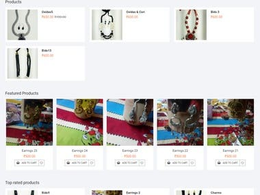 Multi vendor eCommerce website made with WordPress and paid theme with advanced customization.