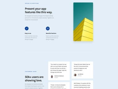 Landing Page Design and Development for a Tech Company