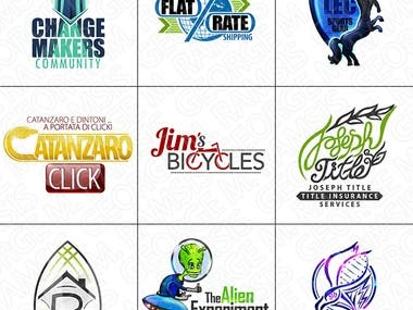 Various samples of  Logo designs I have created