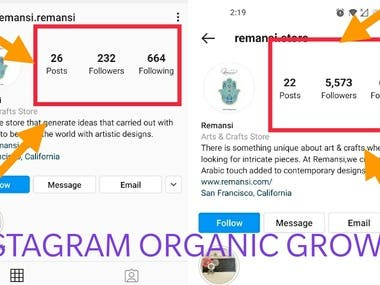Organically grown Instgram business page by running Advertisements.