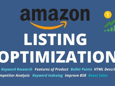 SEO Optimized Amazon Product Description  SEO optimized product description bring more traffic to listing and increase sales velocity. Bullet points and perfect description helps buyer to understand the detail of product and buy it.   As per A9 algorithm if the listing is indexed on all those keywords that people use to search that product, then amazon promote those listings, chances of sales increases 10X times and it also improves BSR (Best Seller Rank).  What I will do for you?  Extensive product keyword research Provide KW rich title Highlight features in the form of bullet points with KW indexing SEO optimized product description (inc HTML) Competitor analysis WHY ME?  I'm Experienced Copywriter and Write SEO Optimized Product Descriptions that Sells and A9 Algorithm selects to Rank.  TOOLS THAT I USE:  Helium10 JungleScout MerchantWords