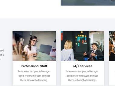 wordpress portfolio website recently developed as a sample  page builder used: elementor cms: wordpress
