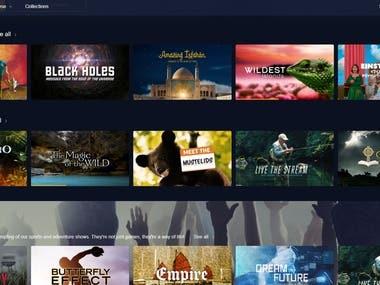 CuriosityStream Roku TV application : Brightscript , Scenegraph