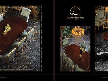 Milano furniture catalog design