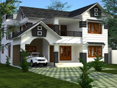 Building design and rendering using 3ds max, revit, sketchup and lumion