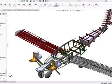 baby trailer and real airplane design by SOLIDWORKs & AutoCAD (include CFD)