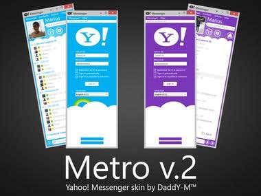 A functional modern skin for the Yahoo! Messenger client.