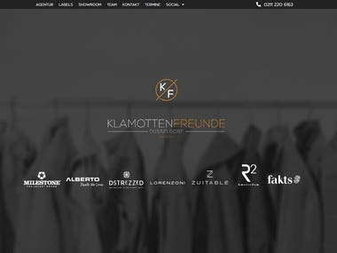 A home page developed in WordPress for a textile company. We have also built a CRM for this customer