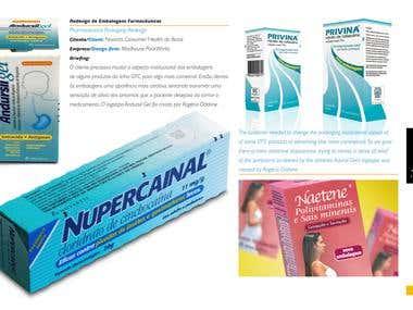 Packaging design for medicines.