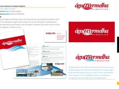 Logo and brochure for a Logistics Company.