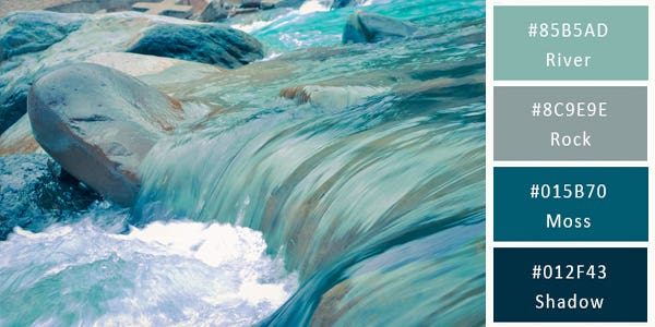 cool color combination - river