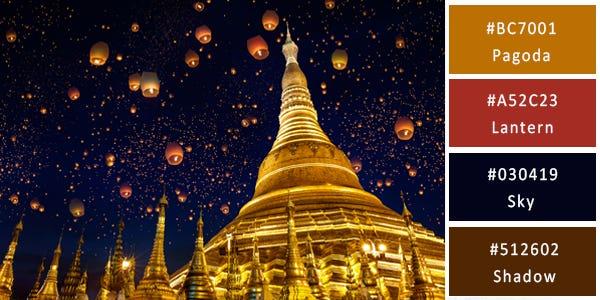 rich color combination - myanmar