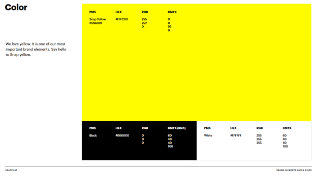 snapchat brand guidelines