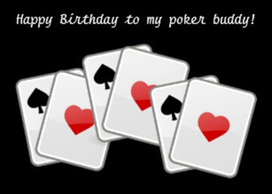 poker birthday cards