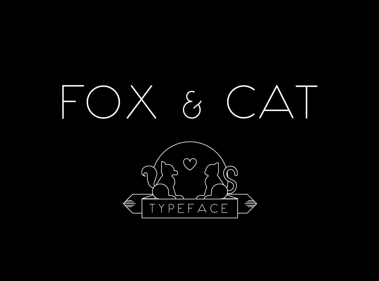 Fox and cat font