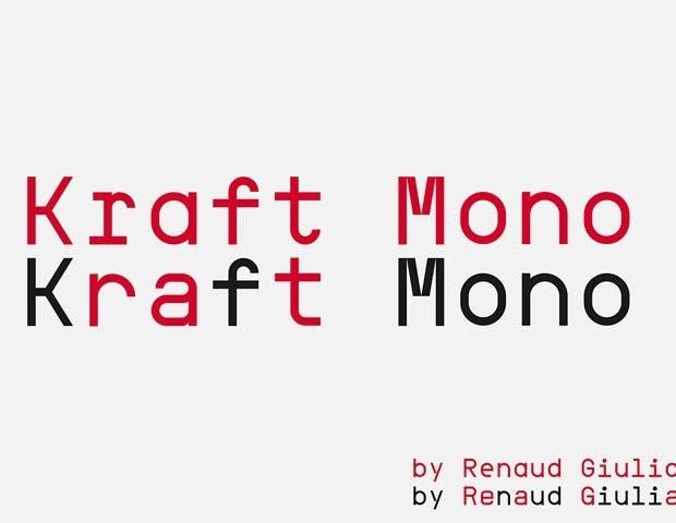 Kraft Mono font