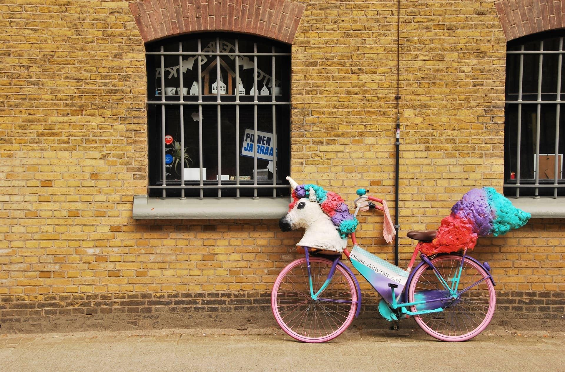 unicorn-shaped bicycle