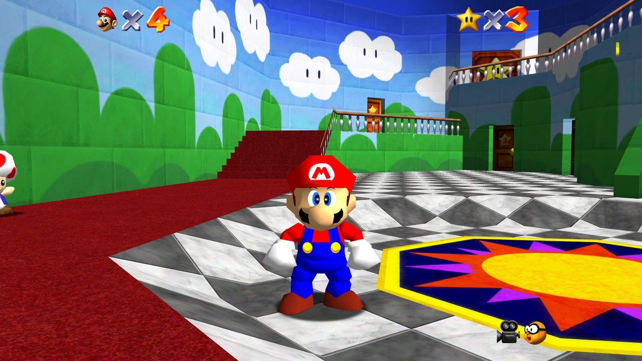 Mario 64 low poly art
