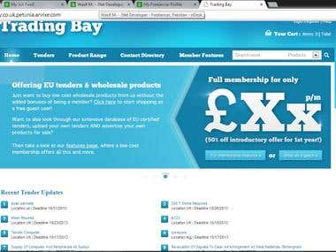 Trading-Bay is an online web based application, which is basically NOP Commerce customization.