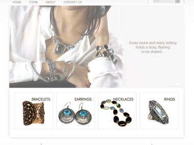Created Wordpress based jewellery store with WP e-commerce plugin.