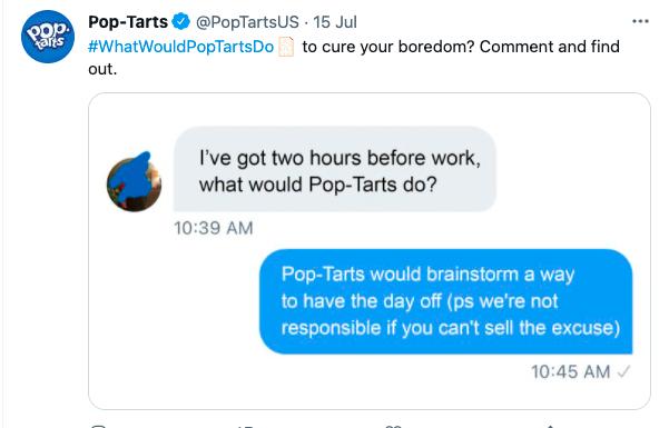 What Would Pop-Tarts Do tweet