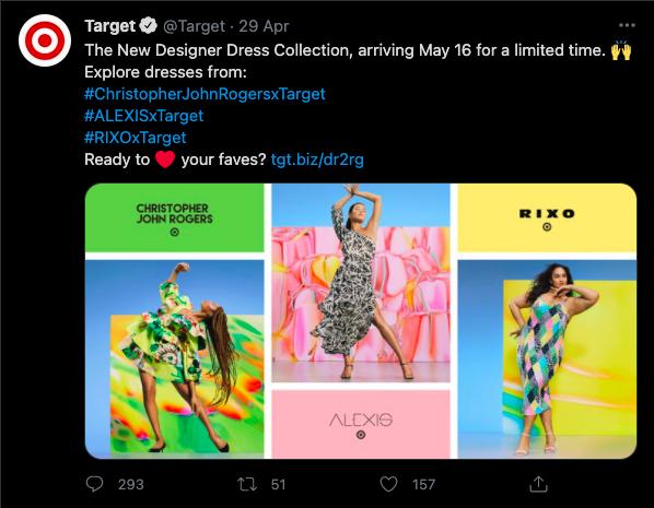 Target Designer Dress Collection tweet