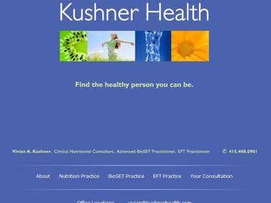 Corporate website for Kushner Health. CSS complaint site development.