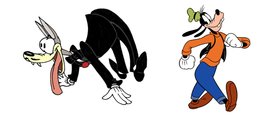 The Wolf and Goofy